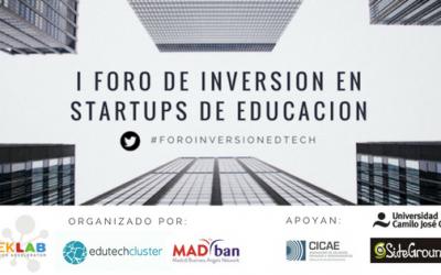 I Foro de inversión en startups de educación