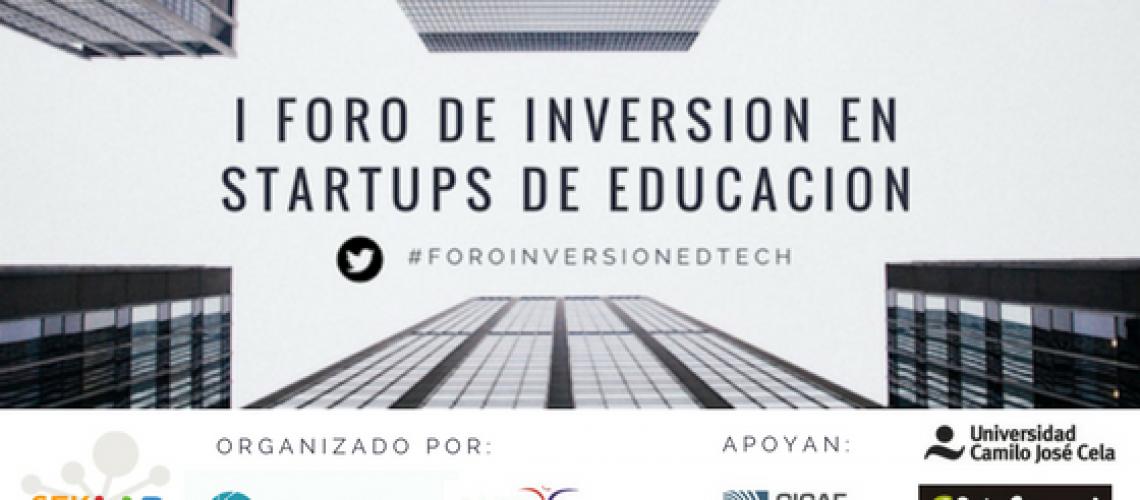 Banner I foro inversion EdTech
