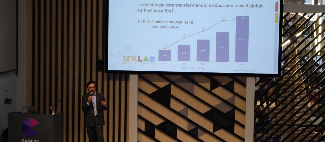 Felix Lopez Capel es director de SEK Lab, Aceleradora de Startups en Educacion